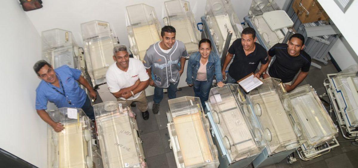 Técnicos venezolanos recuperan unidades de cuidados neonatales