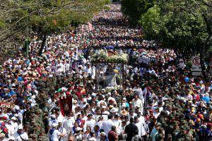 Monumento cinético eterniza peregrinaje anual de la Divina Pastora