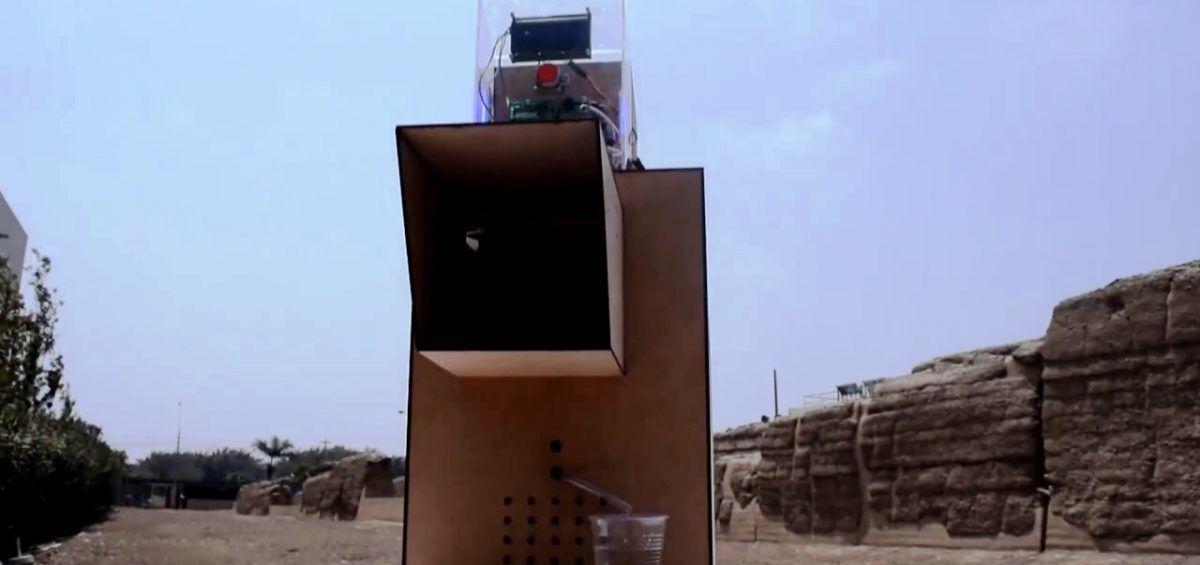 Pukio, la máquina que genera agua potable de la humedad ambiental