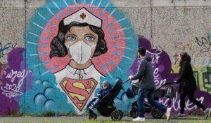El Covid 19 deja huella en las calles del mundo a través del arte