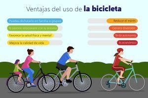 Más felices, sanos y ecológicos en bicicleta