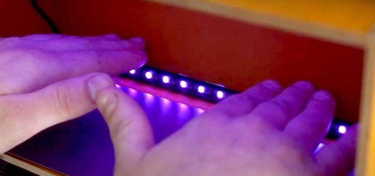 Crean dispositivo para desinfección de manos con luz ultravioleta