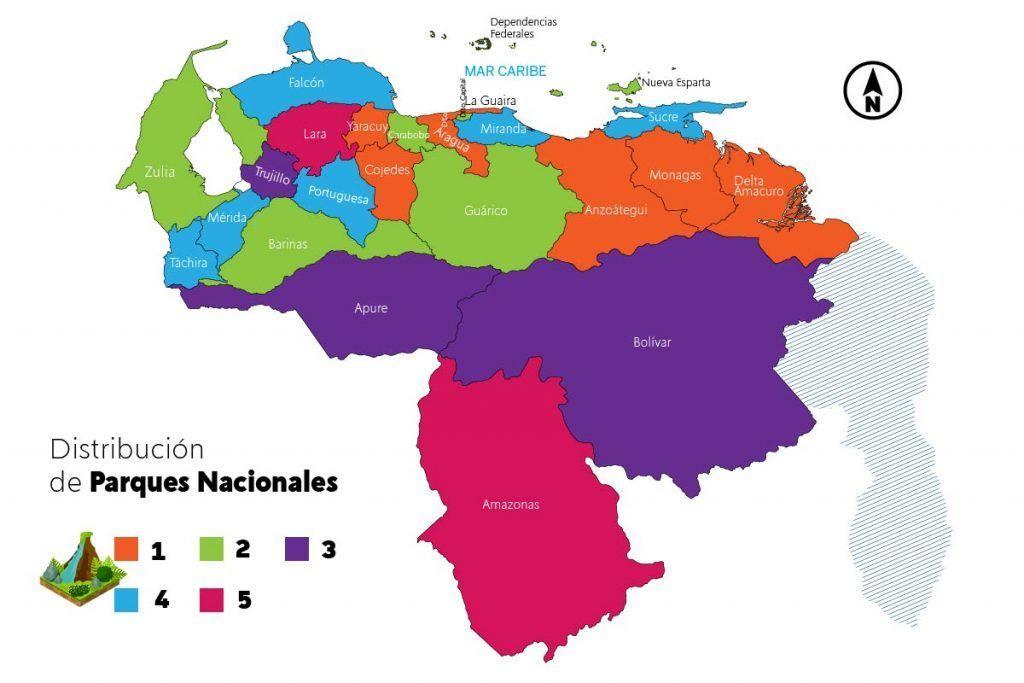 Parques Nacionales en toda la geografía venezolana