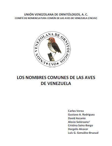Nombres comunes de las aves de Venezuela